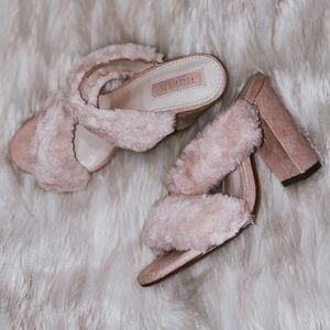 Faux Fur Mules